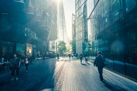 business people, modern buildings, London, UK