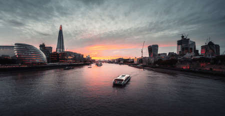 London skyline from Tower Bridge, UK