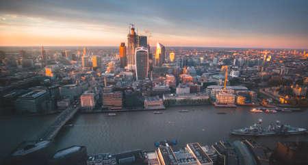 London city area skyline, UK