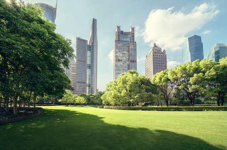Green Space, Lujiazui Central, Shanghai, China Reklamní fotografie