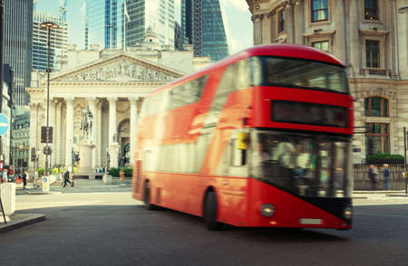 Royal Exchange, London With Red bus