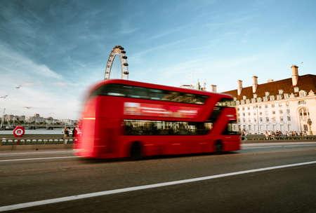 double decker bus, Westminster Bridge, London, UK Reklamní fotografie