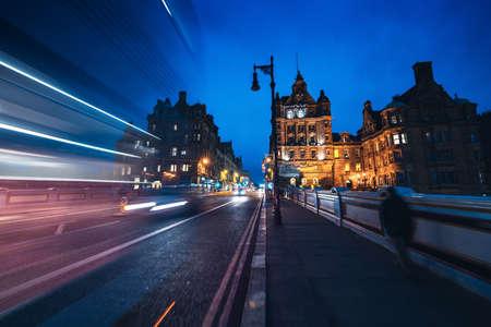 Streets of Edinburgh, Scotland, at night, UK Reklamní fotografie