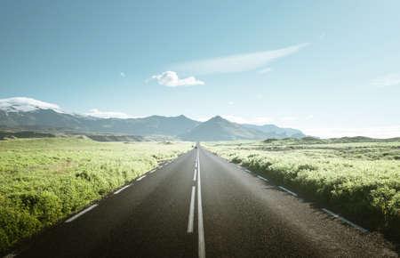 road in summer sunny Iceland Reklamní fotografie