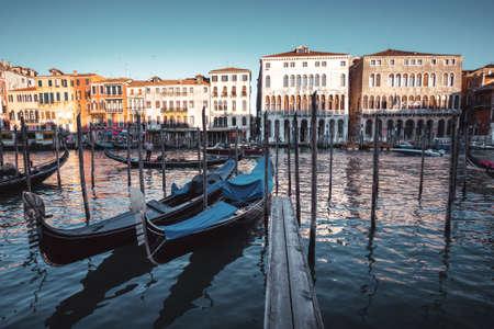 gondolas in Venice, Italy. Foto de archivo