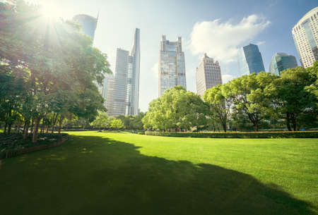 Green Space, Lujiazui Central, Shanghai, China Reklamní fotografie - 158768571