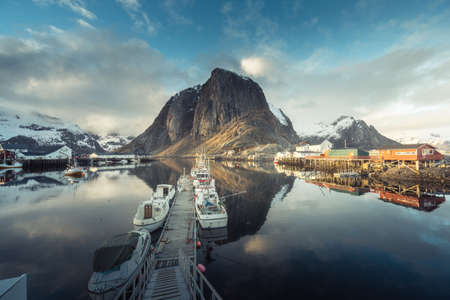 Hamnoy fishing village, spring time, Lofoten islands, Norway