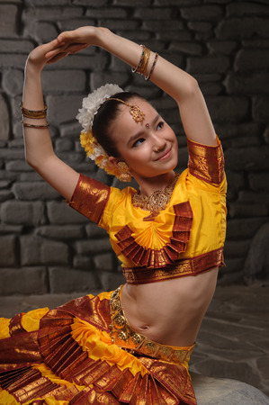 talented: beautiful little talented girl, showing his dance quality Stock Photo