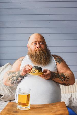 fatso: Male fatso is very hungry