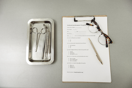 Dental tools on working table