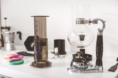 Interesting equipment for making coffee