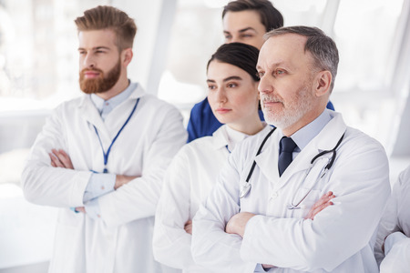 Serene group of therapeutics situating in hospital Stock Photo