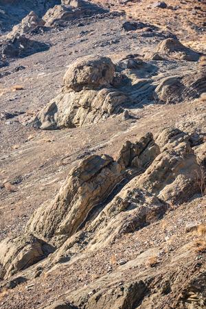 Sharp stones of bizarre shape Stock Photo