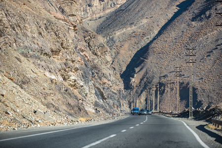 extensive: Modern mountain road in Iran