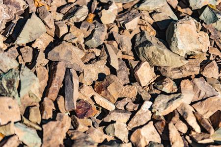 Natural artistic mess among stones