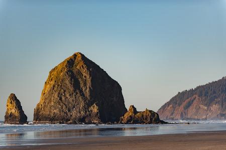 Big rock situating on coastline