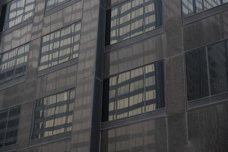 Gloomy high-rise block locating in Chicago Imagens