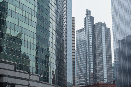 Majestic high-rise blocks situating in Chicago city