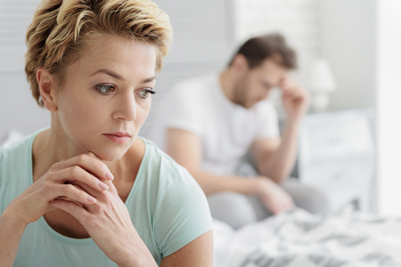 Married couple experiencing crisis in relationship