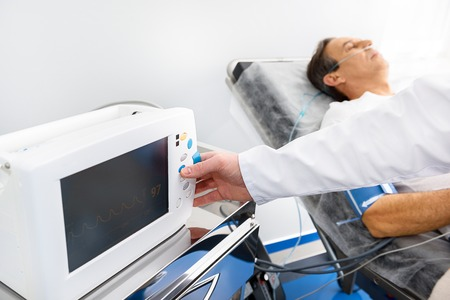 Medical digital device measuring pressure of male