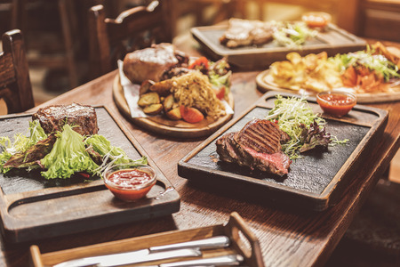 Assortment of hearty dishes served in pub
