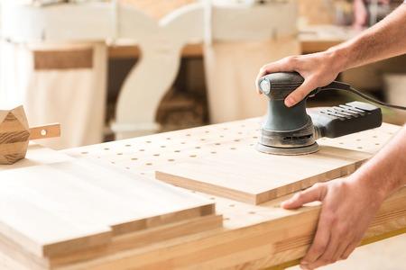 Carpenter is laboring with pleasure