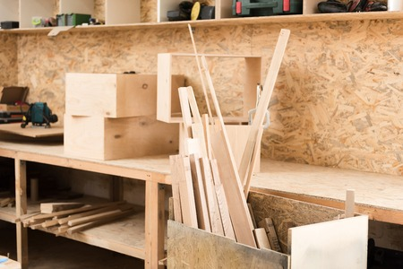 box size: Woodworking room with professional equipment