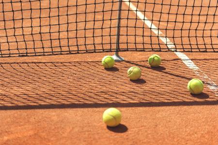 裁判所での特別な丸い球体のロット 写真素材