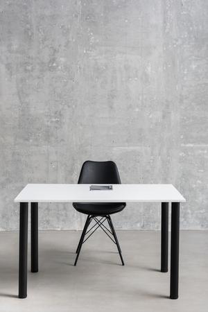 Desk and seat locating in apartment 版權商用圖片