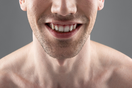 Young man smiling and demonstrating his white healthy teeth Reklamní fotografie