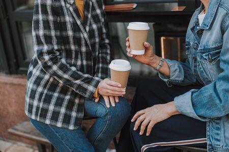 Females drinking coffee in a coffee shop Reklamní fotografie