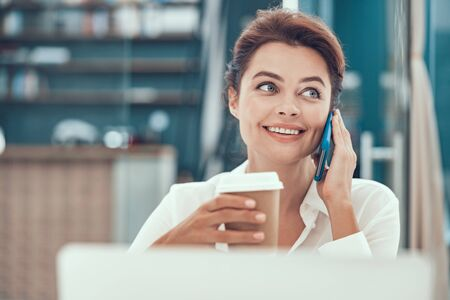 Finding time for important phone call stock photo