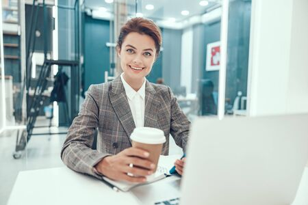 More coffee for productive work stock photo Stock fotó