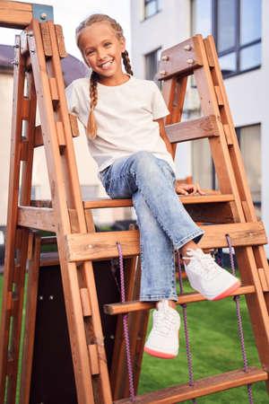 Girl having fun on playground