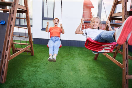 Mother and her daughter having fun Stok Fotoğraf