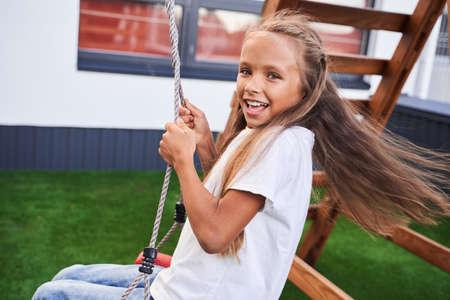 Girl having fun Stok Fotoğraf