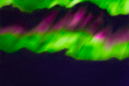 the pleiades: abstract night sky with stars and aurora background Stock Photo