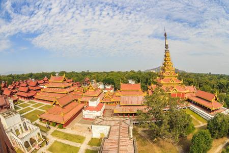 birdeye: Mandalay royal palace, Myanmar birdeye view fisheye lens