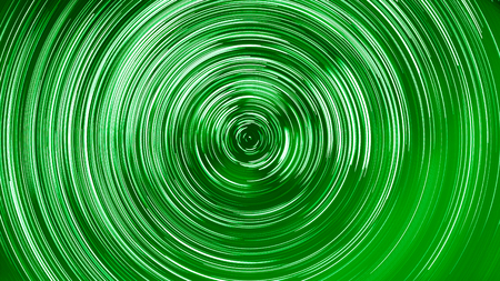 light trails: abstract long exposure of star trails green colorized background Stock Photo