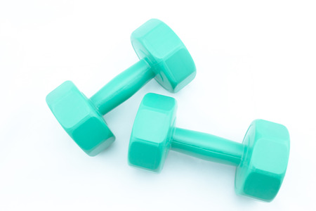 This is Dumbell 3 kg with isolate background