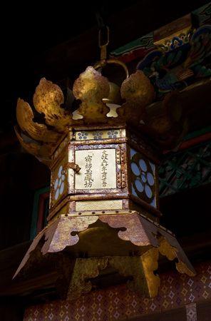 京都の神社で伝統的なちょうちん。 写真素材