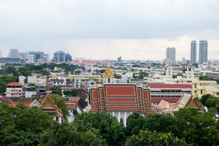 hight: Landscape view from hight view at Bangkok Editorial