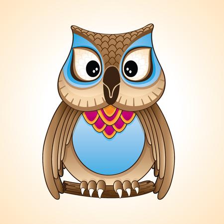 illustrating: Sweet owl vector Illustration