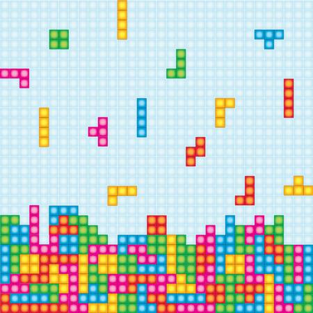 Tetris Game Illustration