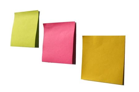 Sticky note on a board Stock Photo