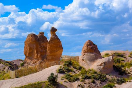 Camel rock at Imaginary valley in Cappadocia, Turkey Stock Photo