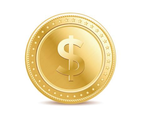 Gouden dollar munt