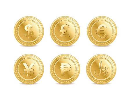 Munt munten Stock Illustratie