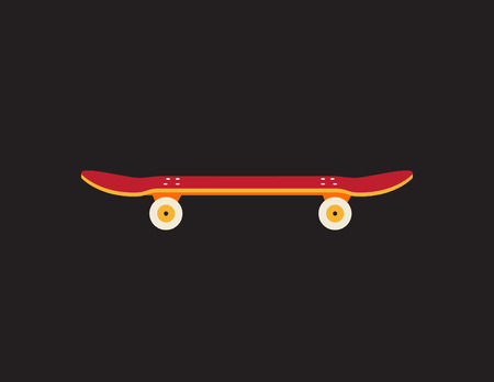 Retro vintage skateboard icon isolated on dark background Ilustracja