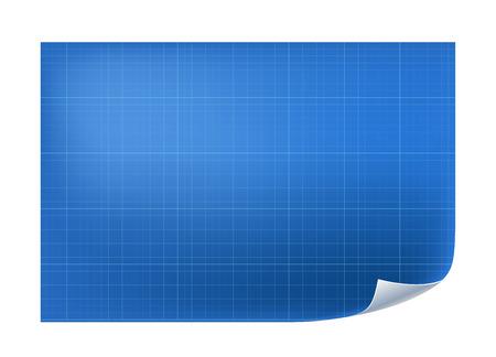 ベクトル線グリッド アーキテクチャ紙を青写真します。  イラスト・ベクター素材